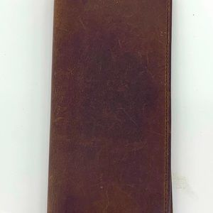 Genuine leather checkbook/ Wallet